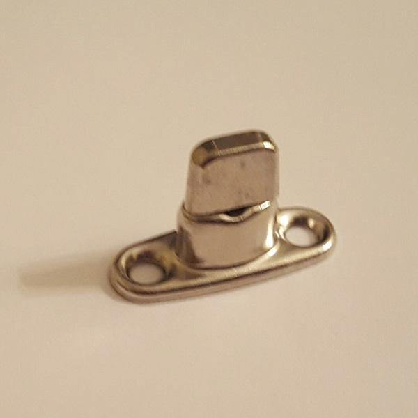 Classtique Upholstery Common Sense 2 Hole Double High Male Stud Nickel Hardware