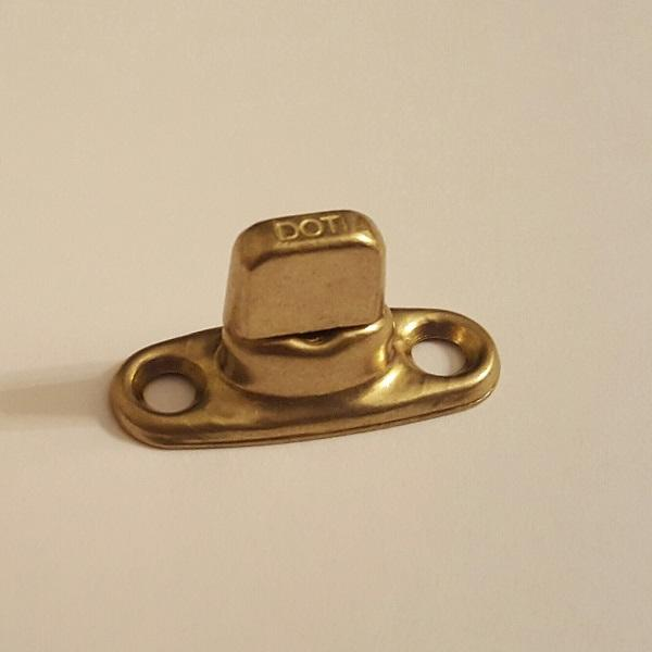 Classtique Upholstery Common Sense 2 Hole Single High Male Stud Brass Hardware